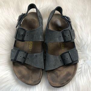 Birkenstock Milano Blue Ankle Strap Sandals